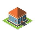 Isometric cafe building icon vector image vector image