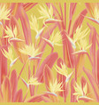 jungle plant paradise tropical fabric design vector image