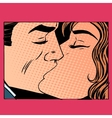 Kiss man and woman love vector image vector image