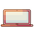 laptop computer gradient icon vector image vector image
