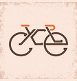 lettering composition on theme cycling vector image vector image