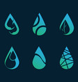 logo water collection design graphic many style vector image