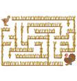 Maze game for children turkey