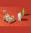 meeting an alien composition vector image vector image