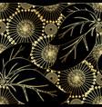 modern otnate floral 3d seamless pattern vector image vector image