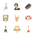 music taste icons set cartoon style vector image vector image