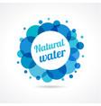 natural water logo concept vector image