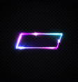 neon sign template on transparent background vector image