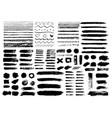 painted grunge stripes set black labels vector image vector image