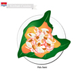Palu Sami or Kiribati Meat and Coconut in Taro Lea vector image vector image