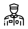 policeman in police suit icon outline vector image vector image