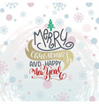 poster on winter abstract background - merry vector image