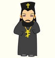 priest in cassock vector image vector image