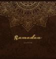 ramadan kareem greeting card islamic holiday vector image vector image