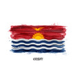 realistic watercolor painting flag of kiribati vector image vector image