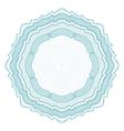 round guilloche element vector image vector image