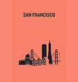 san francisco art design concept flat vector image vector image