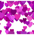 seamless heart background pattern vector image vector image