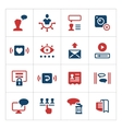 Set color icons of social network vector image vector image