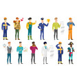 set of professions characters vector image vector image