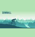 silhouette yang man riding a mountain bike vector image vector image