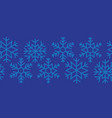 snowflakes blue seamless border repeating vector image
