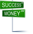 Success-money direction sign vector image