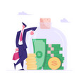 successful business man character stand vector image vector image