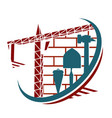 symbol for construction vector image vector image