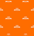 table office pattern orange vector image vector image