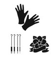 tattoo drawing on the body black icons in set vector image vector image
