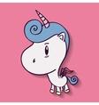 Unicorn horse cartoon design vector image