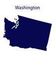 united states washington dark blue silhouette vector image
