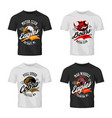 vintage furious eagle boar cobra bikers club tee vector image vector image