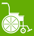 wheelchair icon green vector image vector image