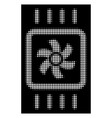 white halftone chip cooling icon vector image vector image