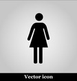 Woman icon on grey background vector image vector image