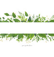 card floral design with green watercolor leaves vector image