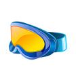 icon goggles vector image