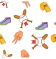 Baseball equipment pattern cartoon style vector image