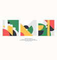 abstract elements in retro style a template vector image vector image