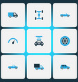 automobile colorful icons set collection of vector image vector image