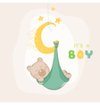 baby shower or arrival card - with bear vector image vector image