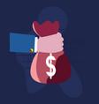 bank money success vector image vector image