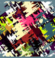 beautiful colorful abstract graffiti polygons vector image