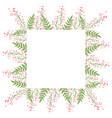 beautiful easter wreath elegant floral frame hand vector image vector image