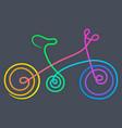 bike gradient vector image vector image