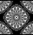 black and white baroque mandalas seamless pattern vector image vector image