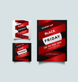 black friday social media and a4 flyer template vector image vector image