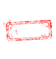 blank red used business grunge stamp vector image vector image